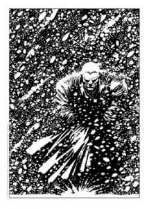 Marv bajo la nieve